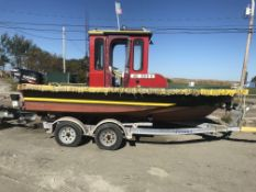 Work Skiff, Approx. 17', Suzuki 4 Stroke 140HP Outboard, Enclosed Console, Garmin 440 GOS,