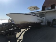 22' Mako Center Console, Hull # ATJ03221G, Evinrude 150HP Etech, Ritchie Compass, 708 Hours,
