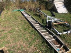 {LOT} 2 Assorted AS IS 30' Alum. Walk Boards