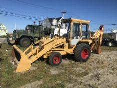 JCB 2 Wheel Drive Loader Backhoe, 5,281 Hours, 8' Bucket, MACHINE RUNS!