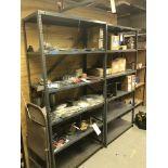 (4) Sections Asst. Metal Shelving