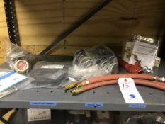 {LOT} On 1 Shelf c/o: Hose, Watts Vent Elbow, Backflow Preventers, Wilkins Springs, Etc.