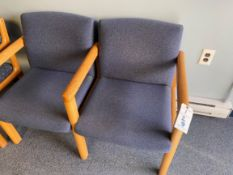 (3) Upholstered Seat And Back Wood Arm Chairs