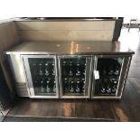 True #TBB-24-72G-S SS Top 3 Glass Door SS/SC Reach In Refrigerator