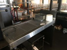 "72"" Stainless Steel Perforated Top Waitress Serving Station"