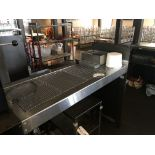 """72"""" Stainless Steel Perforated Top Waitress Serving Station"""