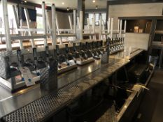 20 Spigot, 3 Section Diamond Plated Beer Tap System