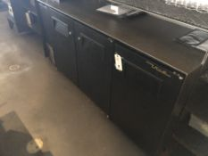 "True #TBB-24GAL-72 72"" 3 Door SS/SC Back Bar Refrigerated Base Unit"