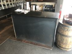 "2 Pieces c/o: 63"" x 24"" Granite Top Hostess Stand w/Diamond Plated Front & Back Counter"
