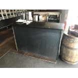 """2 Pieces c/o: 63"""" x 24"""" Granite Top Hostess Stand w/Diamond Plated Front & Back Counter"""