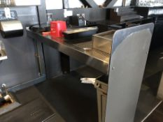 "72"" Stainless Steel Waitress Serving Station"