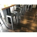 "(10) Allsteel Flat Seat Bar Stools - 30.5""H"