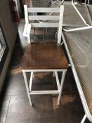 "(16) Grand Rapids Wood Seat Aluminum Frame Ladder Back Stools 30"" (Seat Height)"