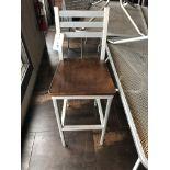 "(16) Grand Rapids Wood Seat Aluminum Frame Ladder Back Stools 30"" (Seat Height)"