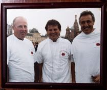 """Jerry Cheevers, Espo, Eruzione in Moscow Framed Photo, 17""""x22"""""""