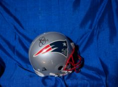 "Authentic Patriots Helmet, Signed ""Troy Brown Ken Walter, Mark Edwards"" (NO MIKE VRABEL AS PREV. LIS"