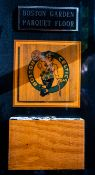 Boston Garden Parquet Floor Plaque