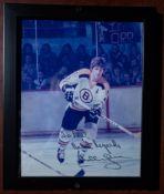 """Bobby Orr Framed Photo, Signed """"To Paul, Best Regards Bobby Orr"""" 11""""x9"""""""