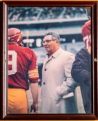 "Vince Lombardi Sonny Jurgensen Framed Photo 12""x15"""