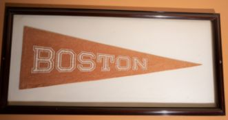 "Boston Framed Pennant 38""x 18"""