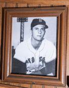 """Wood Framed Carl Yastrzemski Picture, 12.5""""x10.5"""