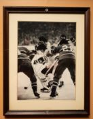 "Derek Sanderson Bruins Wood Framed Photo, 15""x12"""