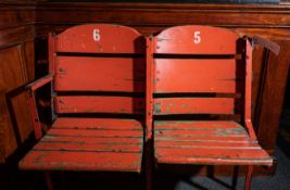 Vintage Boston Garden Wood Seats, No. 5 and 6, Approx. 3'x33""