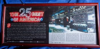 "25 Best In America 4's Winter Magazine Article - Wood Framed 38"" x 17"""