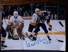 "Bruins Photo 6""x4"" Signed ""#27"""