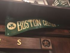 Metal Crafted Boston Celtics Banner