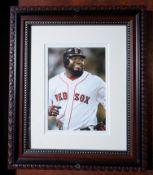 "David Ortiz Wood Framed Photo, 12""x10"""