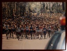 "Boston Marathon Start Line Framed Photo 42""x32"""