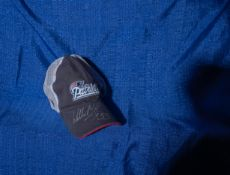 "Patriots Snap back Hat Signed ""Willie McGinest #55"""