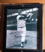 "Frank Malzone, Gold Glove, Framed, , Signed ""#11 First GG Winner 1957"" , 9""x11"""