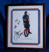 "Jim Craig 1980 Olympic Medalist Photo, Signed ""To the 4""s, Jim Craig"" , 11""x13"
