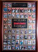 "60 Years Street and Smiths Baseball, 1941-2001 Poster, Wood Framed, 36""x26"""