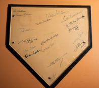 """Rawlings Home Plate w/ 18 HOF Signatures Signed """" Willie McCovey, Duke Snider, Ted Williams, Stan"""