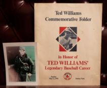 "Ted Williams Commemorative Folder 15""x12"""