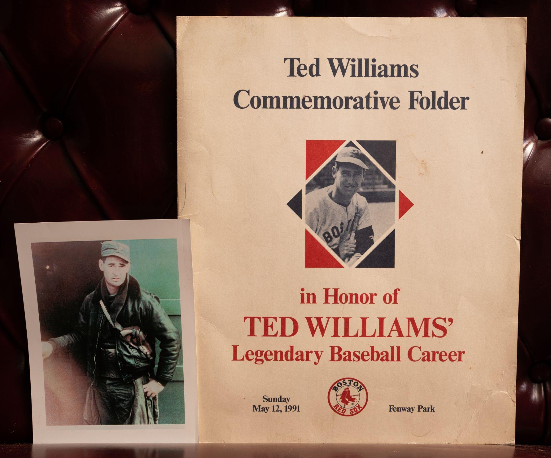 "Ted Williams Commemorative Folder 15""x12"""