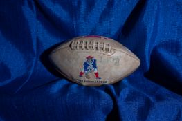 """AFL Patriots Football, Limited Ed, Signed """"John Smith #1"""" and Others , 12"""""""