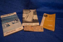 Bruins Décor c/o: Bruins guide, rulebook, ticket stub