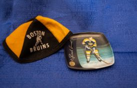(2) Pieces of Boston Bruins Décor