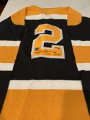 Bobby Orr Autographed Oshawa Generals Captains Jersey (Junior League) Not Game Worn. Has COA Tag.