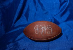 Jim Kelly Signed Wilson Football Signed Jim Kelly #12""