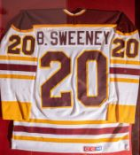 "Bobby Sweeney Boston College #20 Jersey Framed 32""x37"""