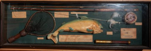 "Fly Fishing Shadow Box 42""x13""x4"""