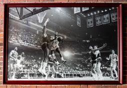 """Wilt Chamberlain, KC Jones, Russell, Havlicek Framed Photo 63""""x44"""""""