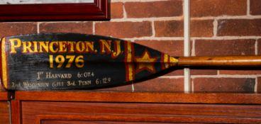 Scull Oar, 1976 Princeton Harvard approx. 12'