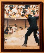 "Mets Vs Cubs Play At The Plate Framed Photo 9""x12"""