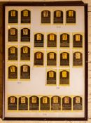 "(4) Coopers Town Hall Of Fame Inductees Collector Cards 1936-1969 Framed 27""x37"""